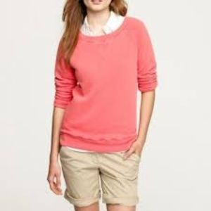 J. CREW Sun Drenched Sweatshirt Coral French Terry